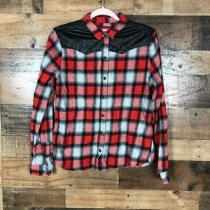 Forever 21 checkered button up shirt